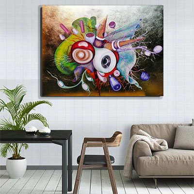 Big Bang painting - the explosion of life