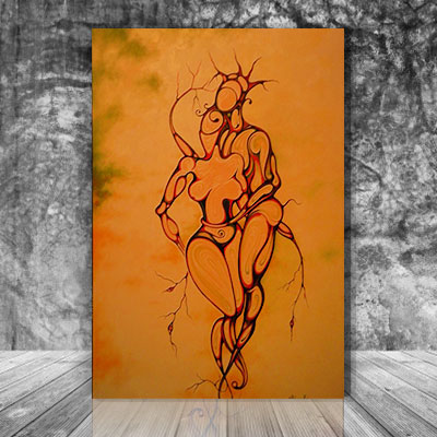 The lovers painting - Aliens Love 2